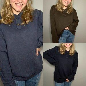 BUNDLE OF 3 Vintage Eddie Bauer Sweaters